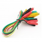 Alligator Positive + Negative Battery Clamp Cables (10PCS)
