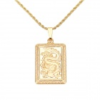 KCCHSTAR High-Quality Fine Copper Electroplating 24K Gold Dragon Totem Pendant Necklace