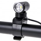 NEW-177 LED 500lm 3-Mode White Bicycle Light - Gray (2 x 18650)