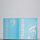 DEDO MG-34 High Notes Music Files Folder Beautiful Music Files Folder - Sky Blue