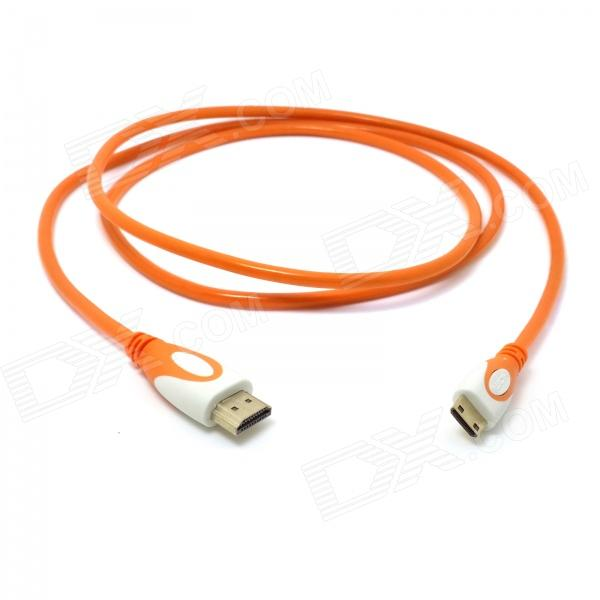 CY HD-139-O HDMI 1.4 macho a Mini HDMI macho Cable adaptador para Tablet PC - Translúcido Naranja