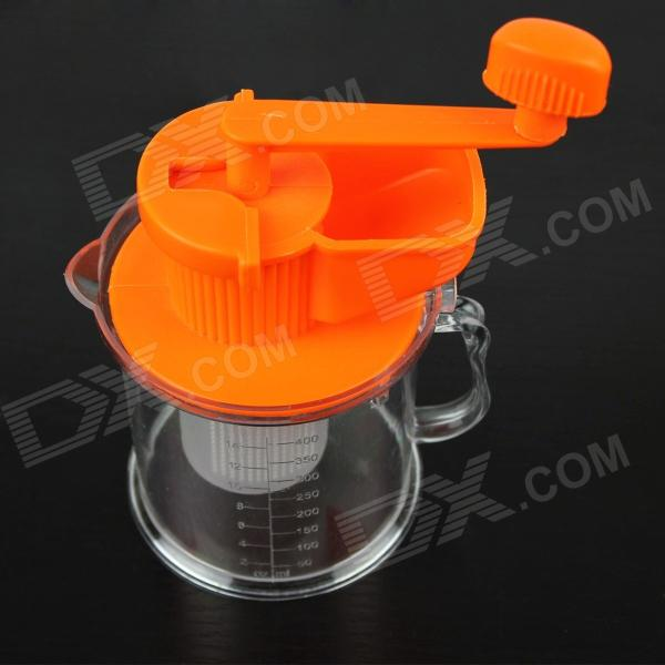 Hand-Soymilk Soybean Milk Machine / Juicer - Orange + Transparent free shipping soybean milk machine filter automatic multi function special offer quality goods soybean milk machine