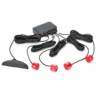 XY-5202 4-Sensor Car Ultrasonic Backup / Parking Sensor System - Black + Red