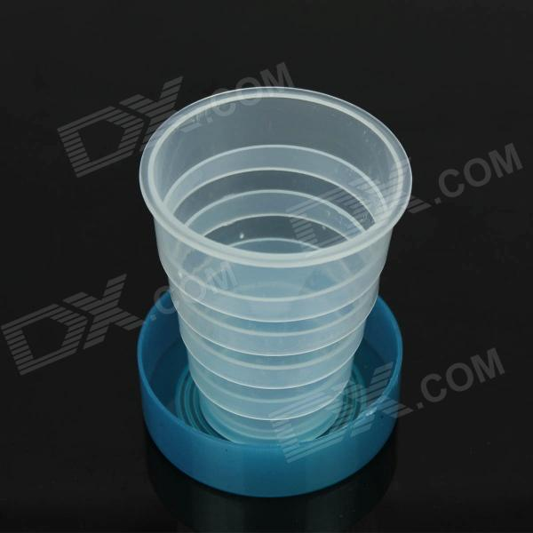 Outdoor Retractable Plastic Cups - Blue + Transparent (100mL)