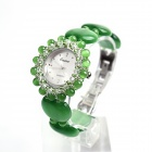 EANA WL01001P Fashionable Quartz Bracelet Opal Women's Quartz Wrist Watch - Green (1 x SR626SW)