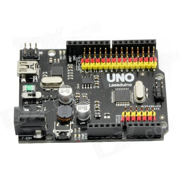 DIY UNO R3 Development Board Microcontroller Mega328P Atmega16U2 Compat for Arduino - Black modules genuine for intel galileo gen 2 development board quark soc x1000 400mhz 256m compatible with arduino uno r3 shield
