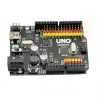 DIY UNO R3 Development Board Microcontroller Mega328P Atmega16U2 Compat for Arduino - Black