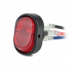 DIY Rocker Switch ON-OFF LED With Red Light - Black + Red (12V / 30A)