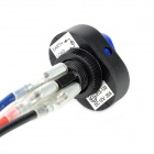 DIY Rocker Switch ON-OFF LED With Blue Lght - Black + Blue (12V / 30A)