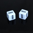 1.8cm Fun Game Dice - White + Black (2 PCS)