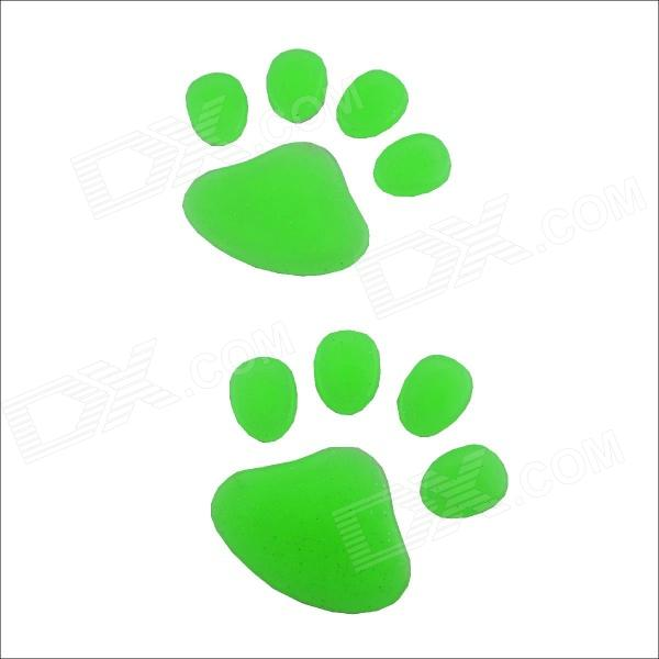 DIY Dog Footprint Glow-in-the-Dark Car Decoration Sticker Set glow in the dark dog footprint style decoration wall paper sticker green