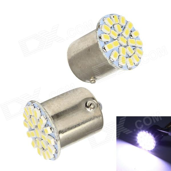 Merdia 1156 3W 150lm 22 x SMD 1206 LED White Light Car Tail Light / Brake Lamp - (2 PCS / 12V)
