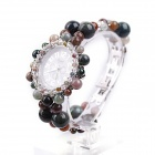 EANA WA02005C Pure Natural Indian Agate Digital Pointer Quartz Bracelet Watch