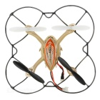 "F180 2.4G Six Channel R/C UFO Four Axis Aircraft w/ 1.5"" TFT LCD Remote Control - Gold"
