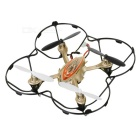 F180 Six Channel R/C UFO Four Axis Aircraft w/ Remote Control - Gold