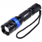 COFLY KX-055 LED 700lm 5-Mode White Light Flashlight - Black + Blue (1 x 18650)