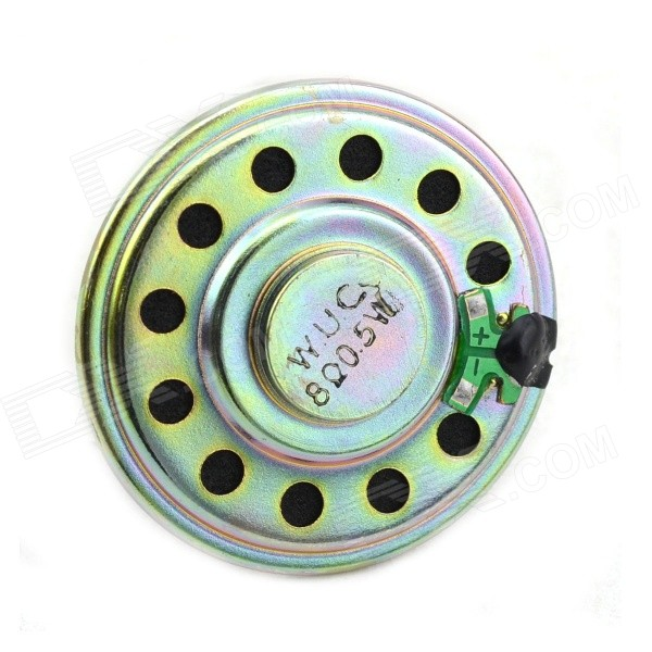 Jtron DIY 50mm 0.5W 8 Ohms Small Speaker - Golden Yellow jtron 8 ohm 5 watt lcd tv speaker silver