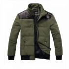 Stylish Men's Cotton Jacket - Army Green (Size-L)