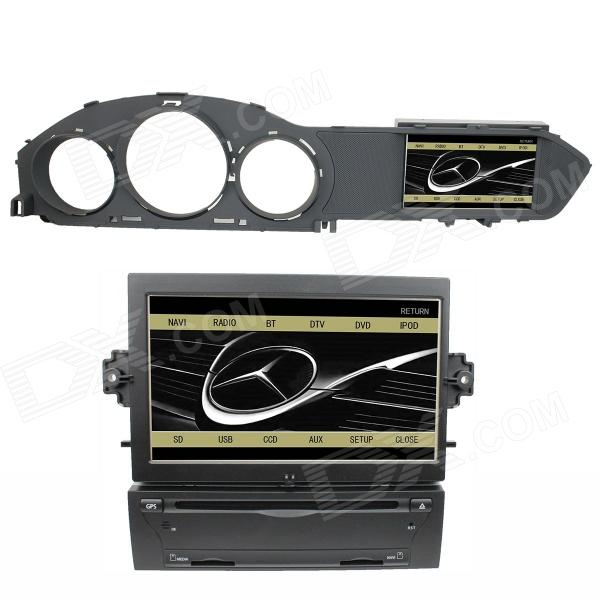LsqSTAR 7Car DVD Player w/ GPS,TV,RDS,BT,CCD,SWC,AUX,CanBus,DualZone for Mercedes-Benz C-Class W204 автомобильный dvd плеер joyous kd 7 800 480 2 din 4 4 gps navi toyota rav4 4 4 dvd dual core rds wifi 3g