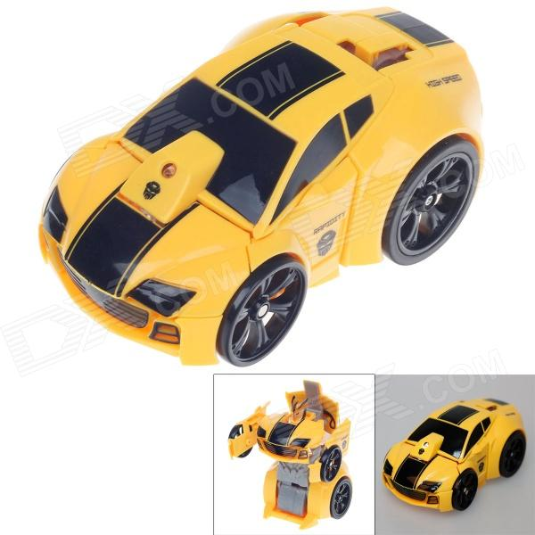 HappyCow 777-321 4-CH 2-in-1 R/C Transform Car w/ Remote Control - Yellow + Black