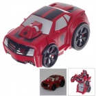 HappyCow 777-321 4-CH 2-in-1 R/C Transform Car w/ Remote Control - Red + Silver + Black