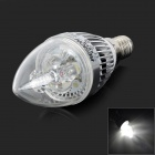 HESION HS01003 E14 3W 270lm 7000K 3-LED White Light Bulb - Silver (AC 85~265V)