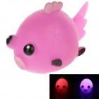 Creative Animals Series Fish Style LED Toys / Small Night Lamp - Deep Pink