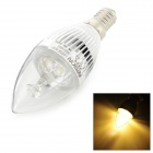 HESION HS01003 E14 3W 270lm 3000K 3-LED Warm White Light Bulb - Silver (AC 85~265V)