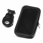 "M09 Motorcycle Bicycle Holder w/ Water Resistant Bag for  6.3"" Samsung i9200  - Black"