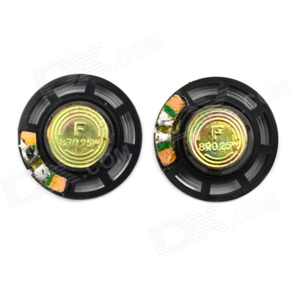 Jtron DIY 29mm 8 Ohms 0.25W Small Speaker - Black + Bronze (Pair) jtron 8 ohm 5 watt lcd tv speaker silver