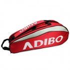B611 Polyester Badminton Rackets / Shuttlecocks Shoulder Bag - Red + Grey
