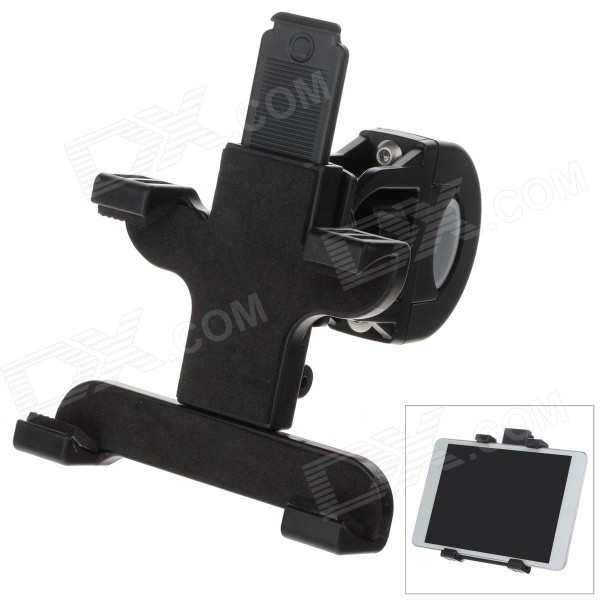 M09 360 Degree Rotation Bracket w/ C61 Back Clamp for Ipad MINI / Samsung i9200  - Black