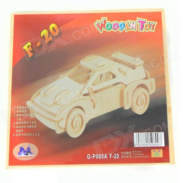 Wooden Assembling Deinonychus Model - Sports Car