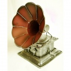 Archaize Antique Phonograph Tin Modell - Gelb