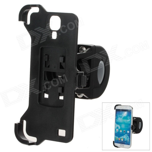 M09 360 Degree Rotation Bracket w/ Back Clamp for Samsung i9500 / S4 - Black
