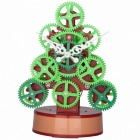 MK HY-G081 Christmas Tree Christmas Gifts Creative Clock - Red + Green (2 x AA)