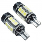 CHEERLINK T15-5050-15SMD-1.5W 6W 12V 350LM 16-LED White Light Car Brake Reverse Light - Black (2PCS)