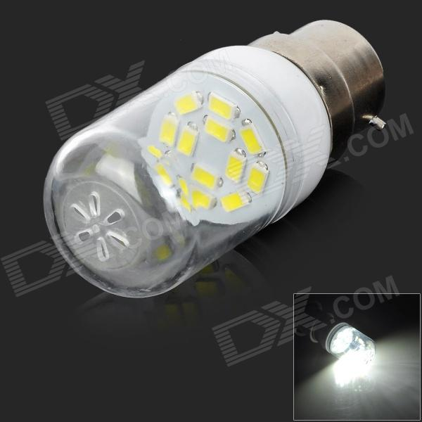 SENCART B22 12SMD B22 1.5W 90lm 6000K 12 SMD 5730 LED White Light Bulb - White (AC 220~240V)