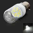 Buy SENCART B22 1.5W 90lm 12-SMD 5730 LED ColdWhite Light Bulb (220~240V)
