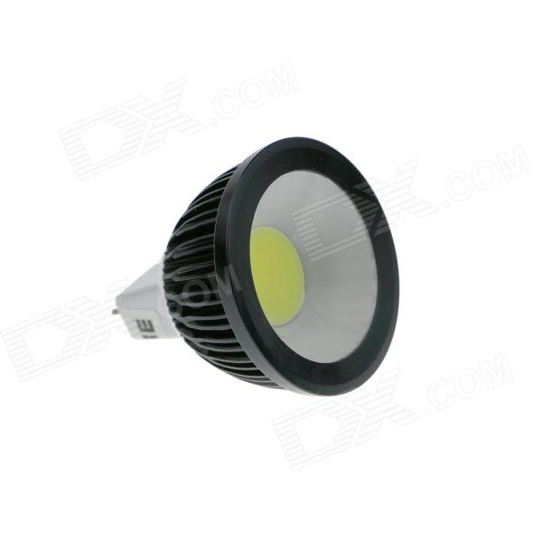 KingFire GX5.3 MR16 3W 240lm 6500K COB LED White Light Spotlight Bulb - Black + White (DC 12~24V) gx h6b r sensor mr li