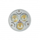 KindFire GU10 3 x 1W 220lm 3500K 3-LED Warm White Light Spotlight - Silver + Write (AC 85~265V)