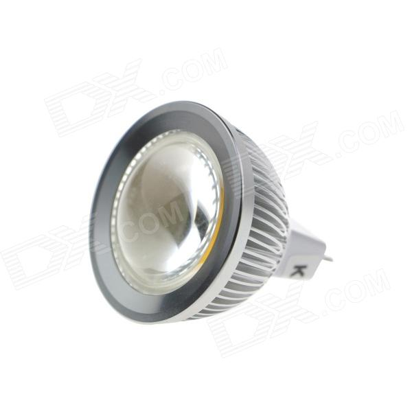KindFire MR16 GX5.3 5W 460lm 6500K COB LED White Light Spotlight w/ Convex Mirror - (12V) - DX - DXMR16<br>Color Silver + White Color BIN White Brand KindFire Material Glass + aluminum Quantity 1 Piece Power 5W Rated Voltage OthersAC/DC 12 V Connector Type MR16GX5.3 Emitter Type COB Total Emitters 1 Chip Brand Huga Chip Type Huga Actual Lumens 440~460 lumens Theoretical Lumens 480 lumens Color Temperature Others6000~6500K Dimmable no Beam Angle 90 ° Packing List 1 x LED Spotlight<br>