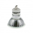 KindFire GU10 4W 300lm 6500K 24 x SMD 5050 LED Warm White Light Spotlight Bulb w/ Cover - (12V)