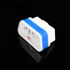 Super Mini iCar2 Bluetooth Vehicle OBD-II Code Diagnostic Tool - White + Blue
