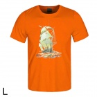 Maleroads MLS3302 Outdoor Quick-drying Polyester Short-Sleeves T-Shirt for Men - Orange (L)