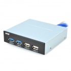 Front Panel 20pin to 2-Port USB 3.0 / 2-Port USB 2.0 Hub - Silver Grey + Black + Multicolored