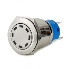 Automobile Button Switch OFF-ON / Self-locking White Light - Silver (12V)