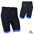 MONTON 11312114 Cycling Polyester + Fiber Short Pants for Men - Black + Blue (XL)