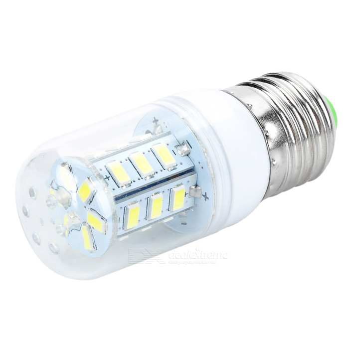 JRLED JR-LED-E27-5W E27 5W 350lm 6500K 24-5630 SMD White Light Bulb - White (AC 85~265V)