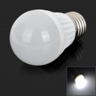 E27 3W 180lm 6000K 4-SMD 5730 LED White Light Bulb Lamp (AC 85~265V)